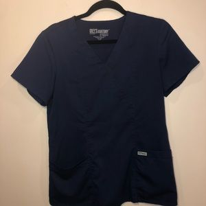 Grey's Anatomy Navy Scrub Top